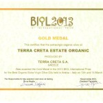 Award Biol Gold 2013 and Biol Greece for our organic Olive Oi