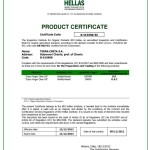 Certifikat BIO HELLAS 2013