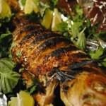 Recepty pecena ryba so zeleninou a rozmarinom